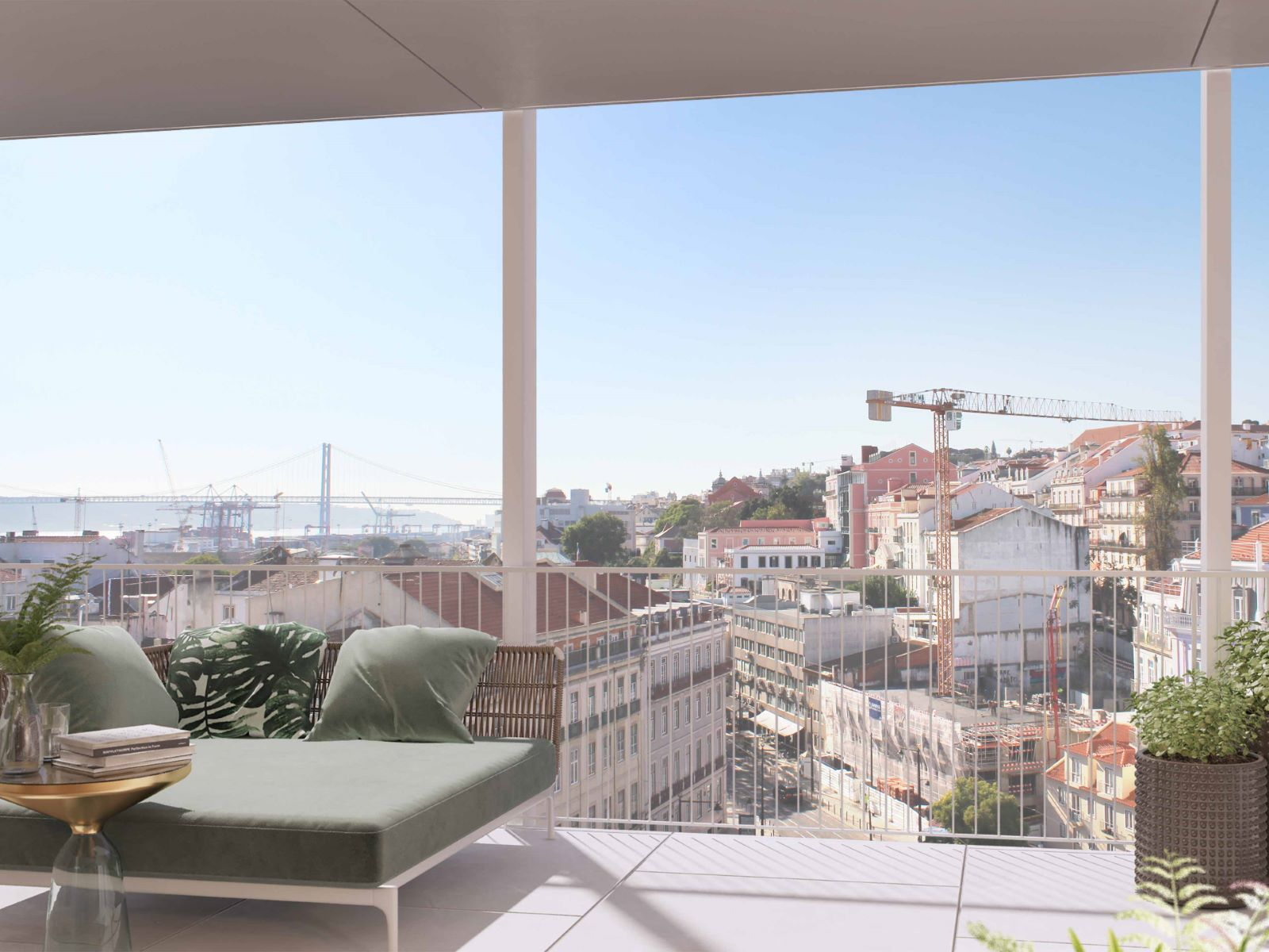 2 BEDROOM DUPLEX APARTMENT WITH TAGUS RIVER VIEW IN SANTOS, LISBON